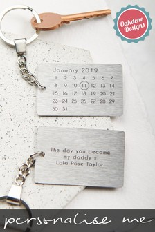 Personalised Special Date Keyring by Oakdene Designs