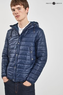Pretty Green Navy Donlan Quilted Jacket