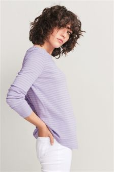 Basic Long Sleeve Stripe T-Shirt