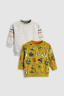Animal All Over Print Crews Two Pack (3mths-6yrs)