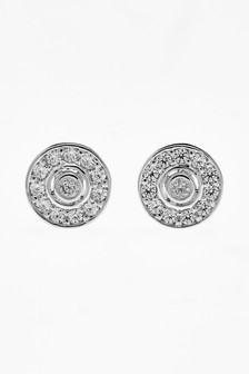 Jewelled Disc Stud Earrings