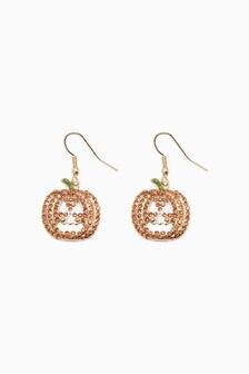 Halloween Pave Pumpkin Earrings