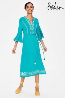Boden Remi Embroidered Midi Dress