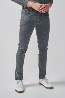 Skinny Fit Snow Wash Jeans