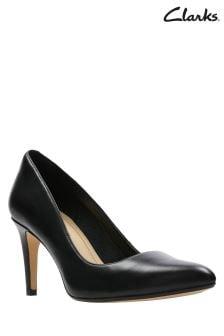 Chaussures Clarks Laina en cuir noir à talons hauts
