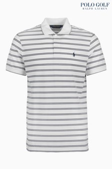 Polo Golf by Ralph Lauren White/Navy Stripe Polo