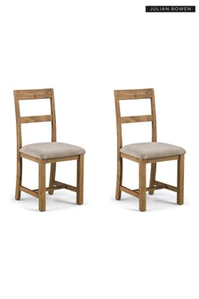 Set of 2 Aspen Dining Chairs by Julian Bowen