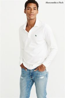 Abercrombie & Fitch Classic Long Sleeve Poloshirt