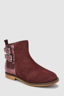 Suede Buckle Boots (Older)