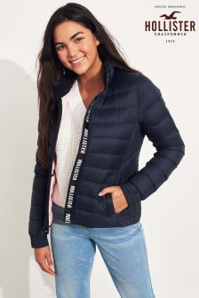 Hollister Navy Light Weight Down Padded Jacket