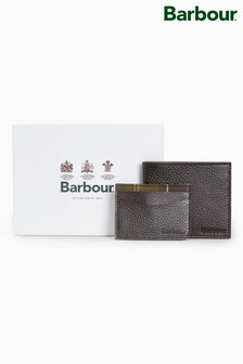 Barbour® Brown Wallet And Card Holder Set