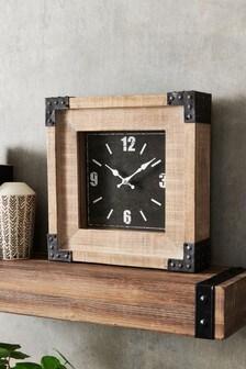 Salvage Wood Mantle Clock