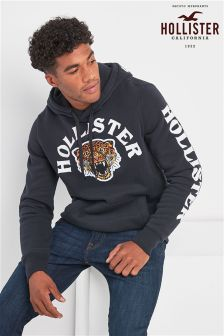 Hollister Black Embroidered Hoody