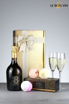 Le Bon Vin Prosecco And Bathbomb Bubbles Gift Box