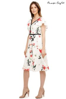 Phase Eight Ivory Mix Caylana Poppy Floral Dress
