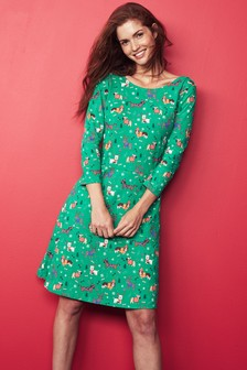 Womens Christmas Print Dress