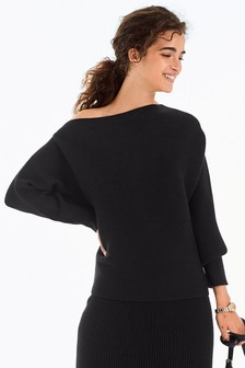 Off Shoulder Rib Jumper