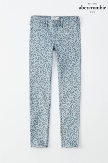 Abercrombie & Fitch Jeans mit Leopardenmuster
