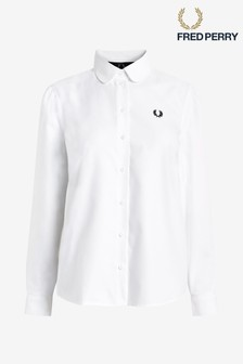 Fred Perry White Button Down Shirt