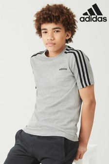 adidas Essential 3 Stripe Tee