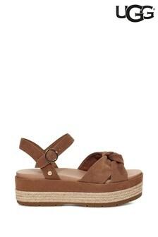 UGG® Chestnut Suede Trisha Flatform Sandals