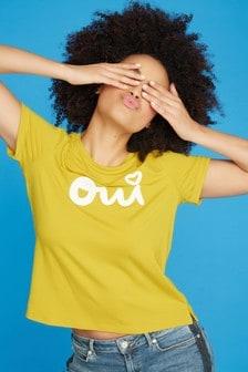 חולצת טי צהובה Oui עם לוגו של Khost