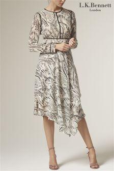 L.K.Bennett Linnea Printed Silk Dress
