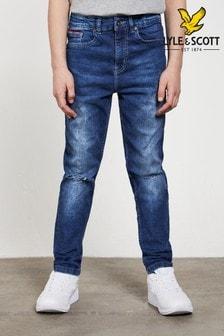 Lyle & Scott Skinny Fit-Jeans, blau