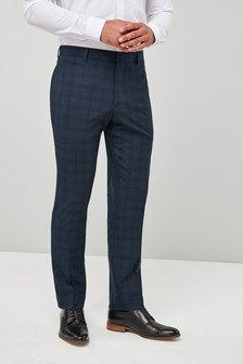 Check Skinny Fit Tuxedo Suit: Trousers