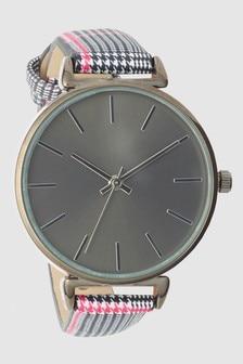 Check Print Strap Watch