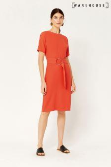 Warehouse Orange O-Ring Dress