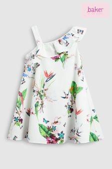 baker by Ted Baker Oasis All Over Print One Shoulder Dress