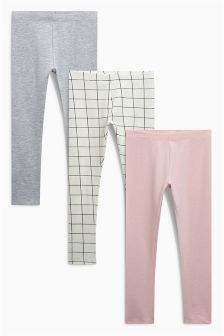 Check Leggings Three Pack (3-16yrs)