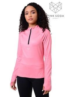 Pink Soda Bowen Fitness Top 1/4 Zip