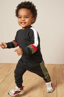 拼色圓領及運動慢跑褲組 (3個月至7歲)