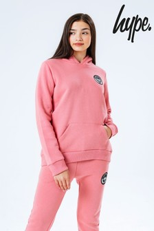 Hype. Pink Crest Kids Hoodie and Joggers Set