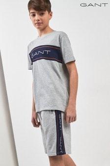 GANT Teen Icon Joggingshorts, grau