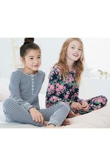 Набор пижам облегающего кроя с цветочным рисунком (2 шт.) (3-16 лет)