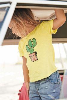 Sequin Cactus T-Shirt (3mths-6yrs)