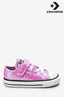 Переливающиеся кроссовки на липучке Converse (для малышей)