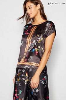 B by Ted Baker Black Opulent Fauna Top