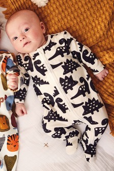 Multi Dino Fleece Inner Sleepsuit (0mths-3yrs)