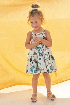 Peacock Print Sundress (3mths-7yrs)