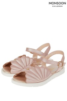 Monsoon Pale Pink Shellie Flatform Sandal