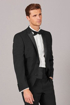 Wool Blend Tuxedo Suit: Jacket