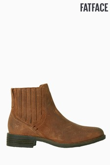 Bottines Chelsea FatFace Norley naturel