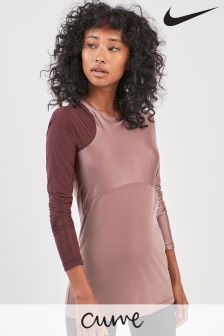 Nike Mauve Hypercool Long Sleeve Top
