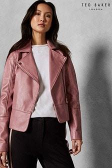 Ted Baker Pink Biker Jacket