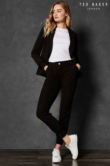 Ted Baker Black MMARGOT Ribbed Cuff Relaxed Trouser