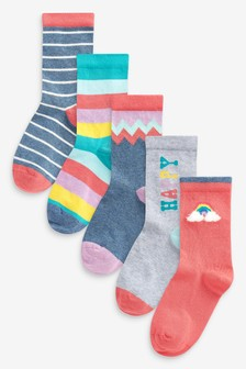 5 Pack Bright Socks